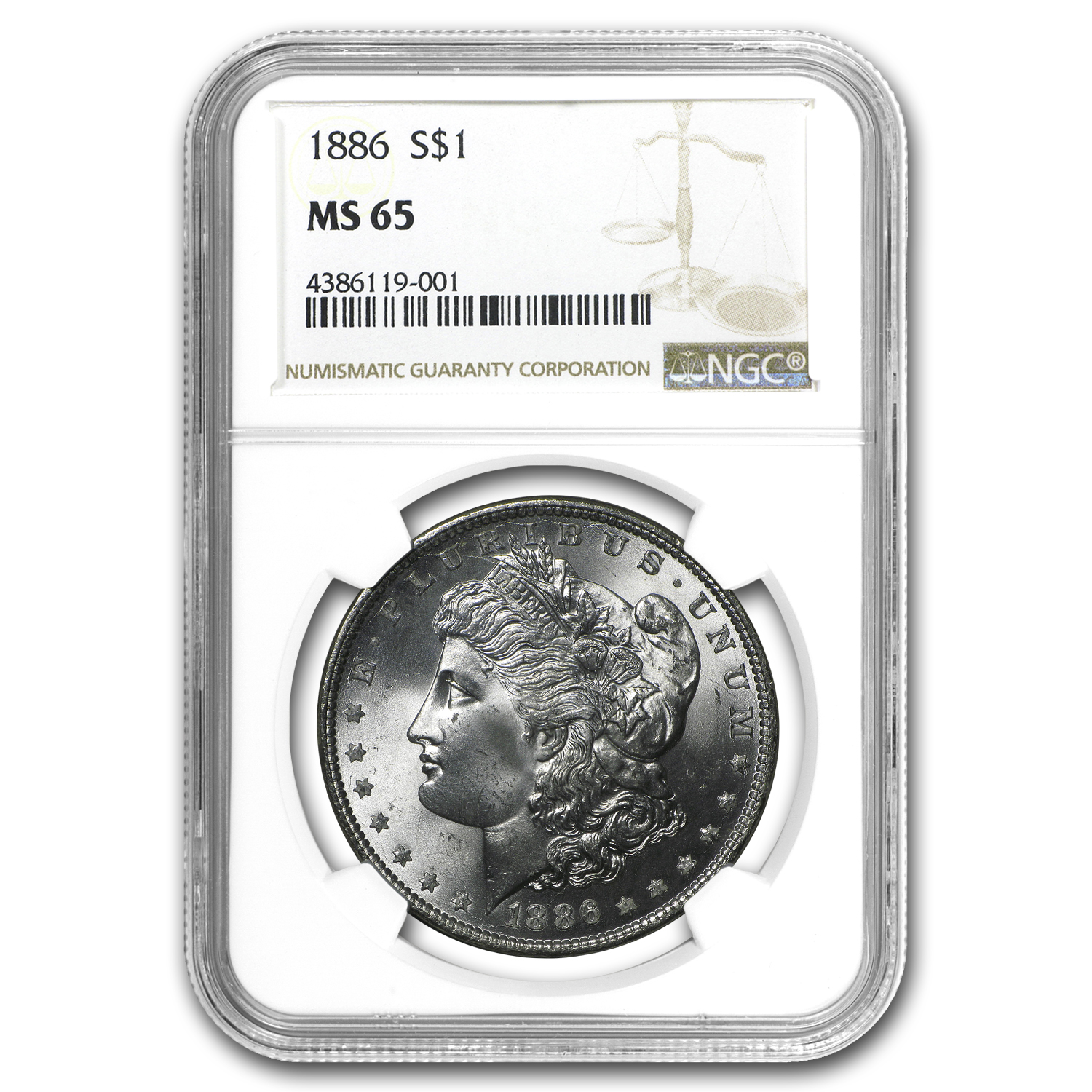 1886 Morgan Dollar MS-65 NGC