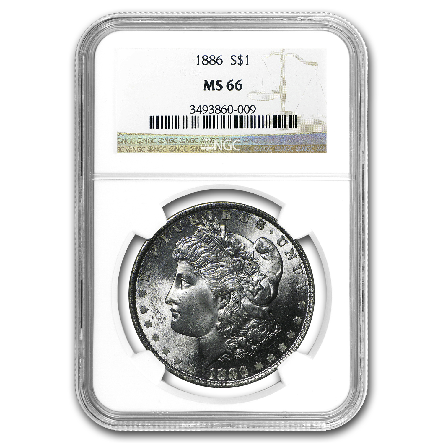 1886 Morgan Dollar MS-66 NGC