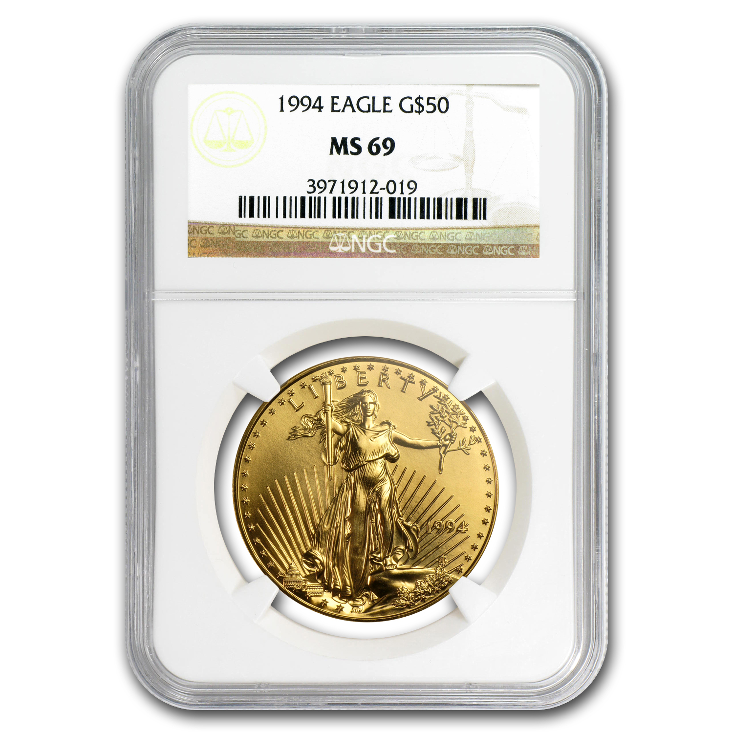 1994 1 oz Gold American Eagle MS-69 NGC