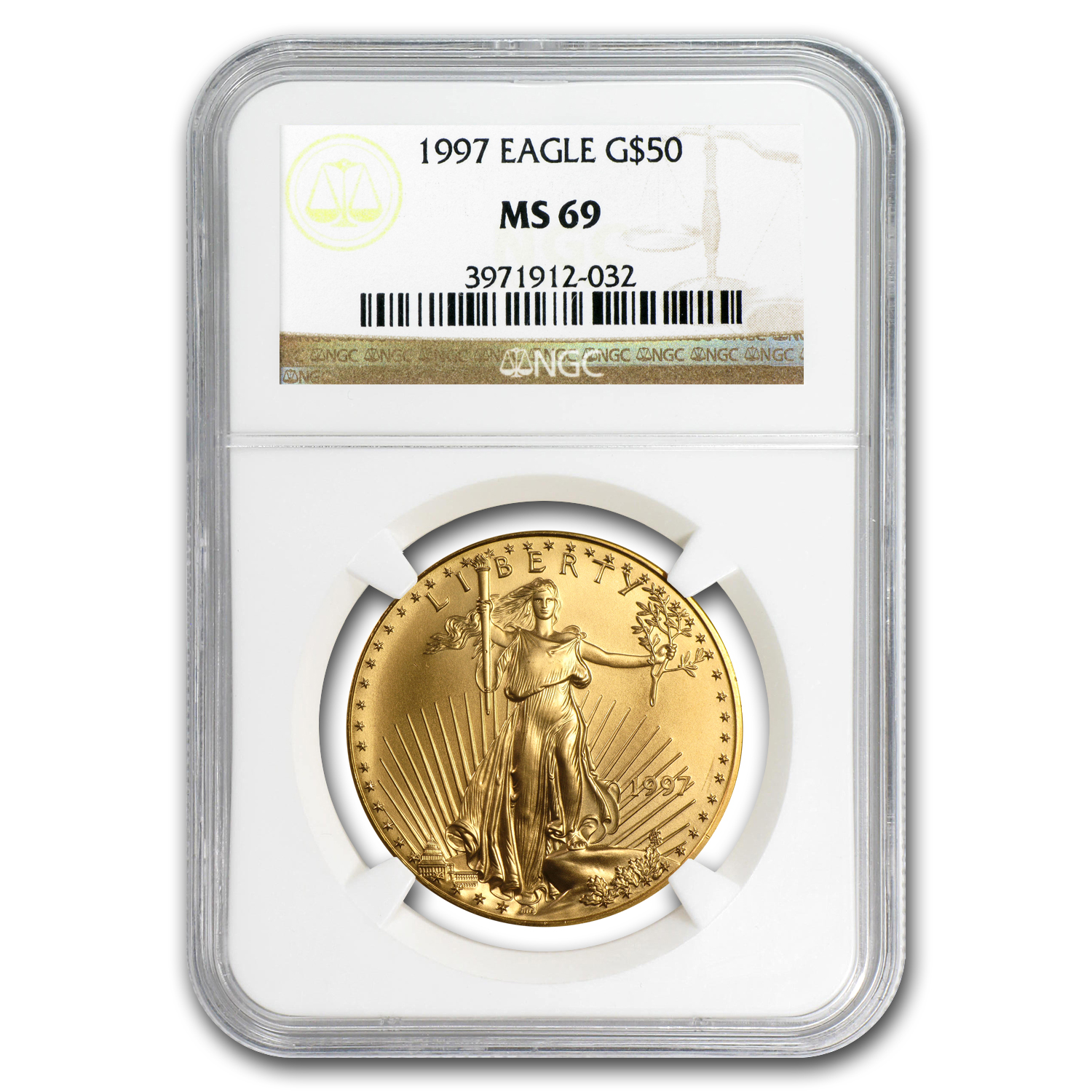 1997 1 oz Gold American Eagle MS-69 NGC