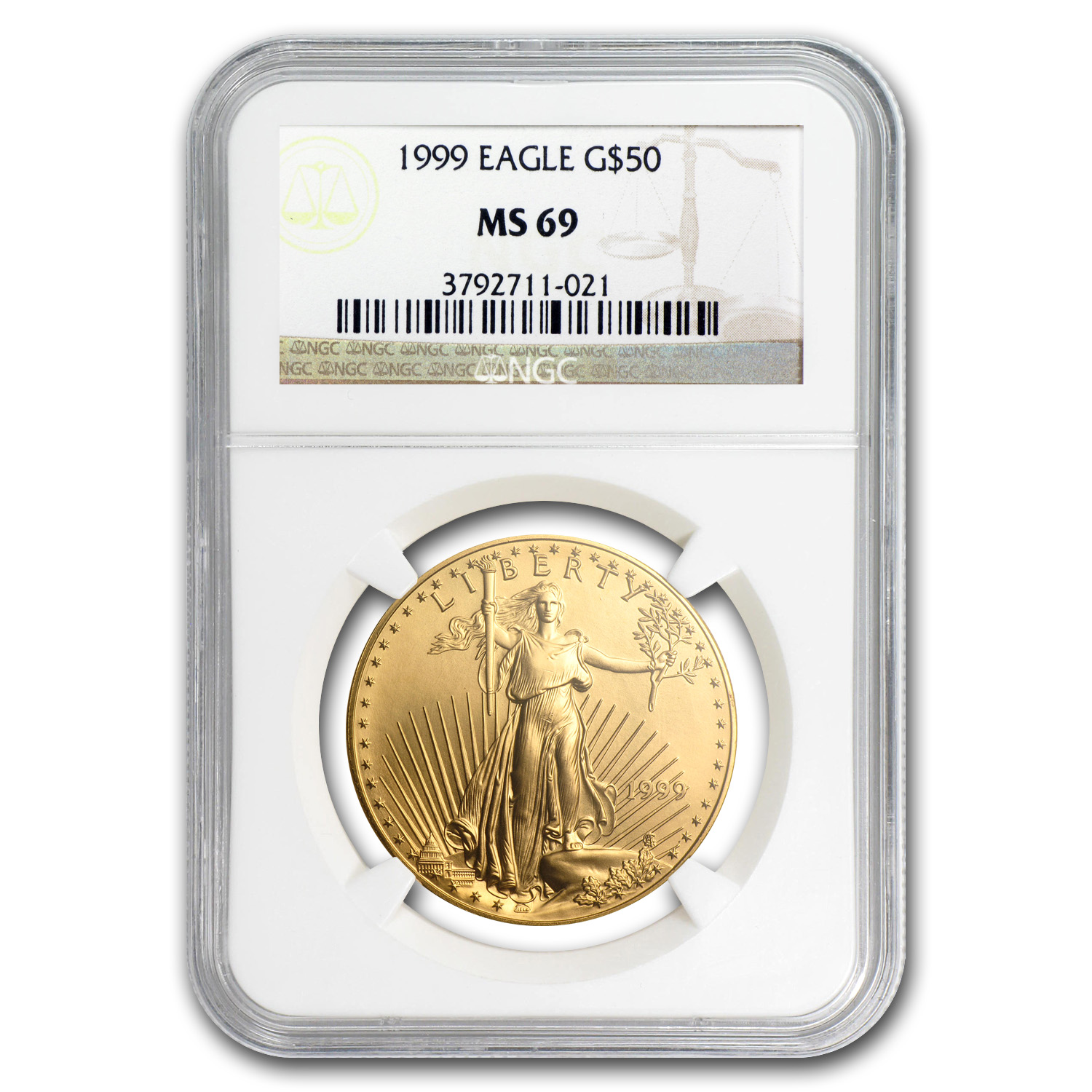 1999 1 oz Gold American Eagle MS-69 NGC (50 Dollar)
