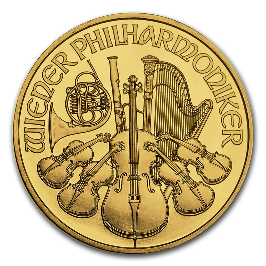 Austria 1 oz Gold Philharmonic BU (Random Year)