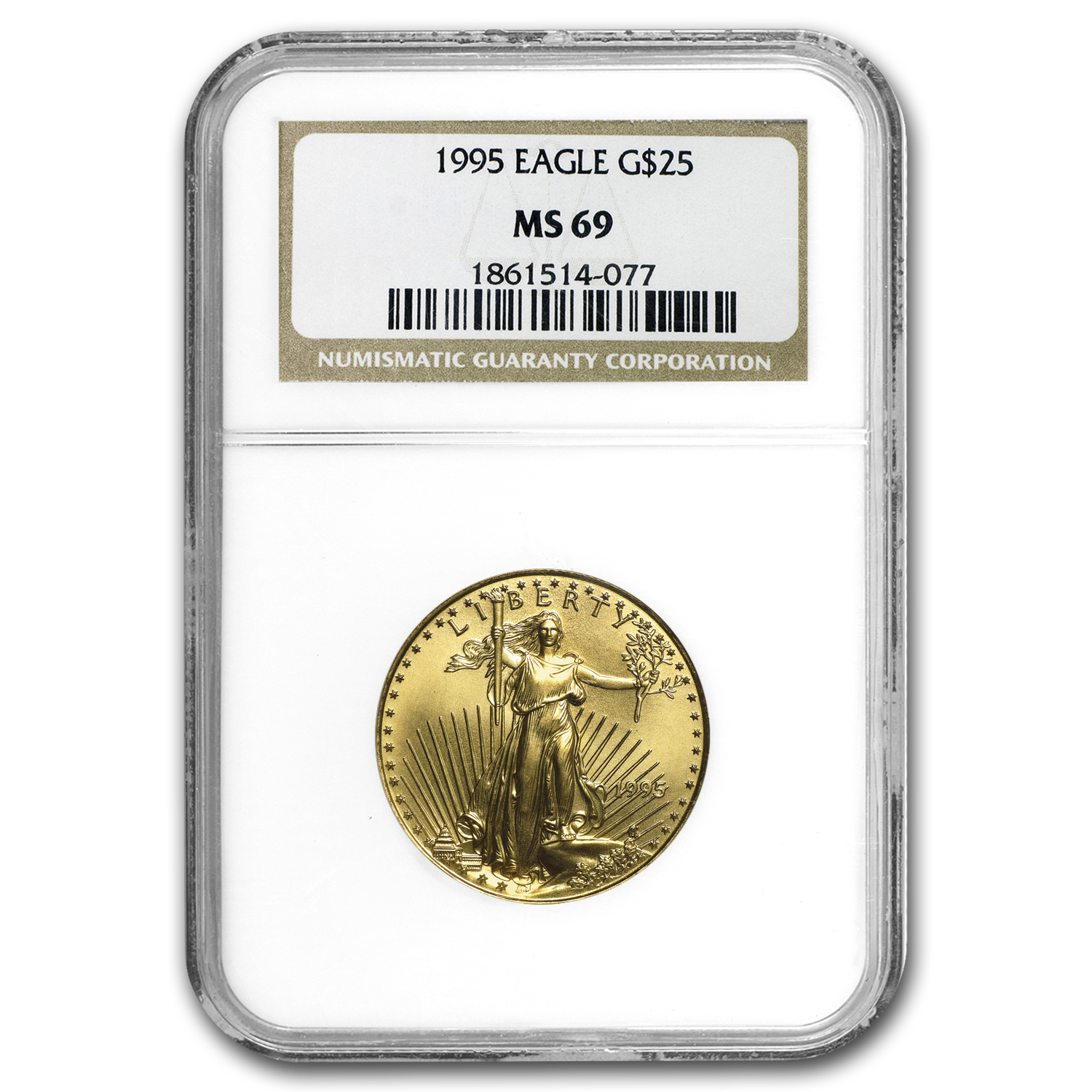 1995 1/2 oz Gold American Eagle MS-69 NGC