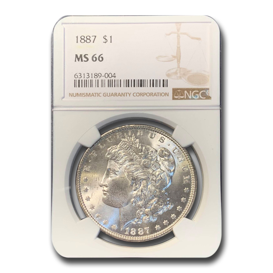 1887 Morgan Dollar MS-66 NGC