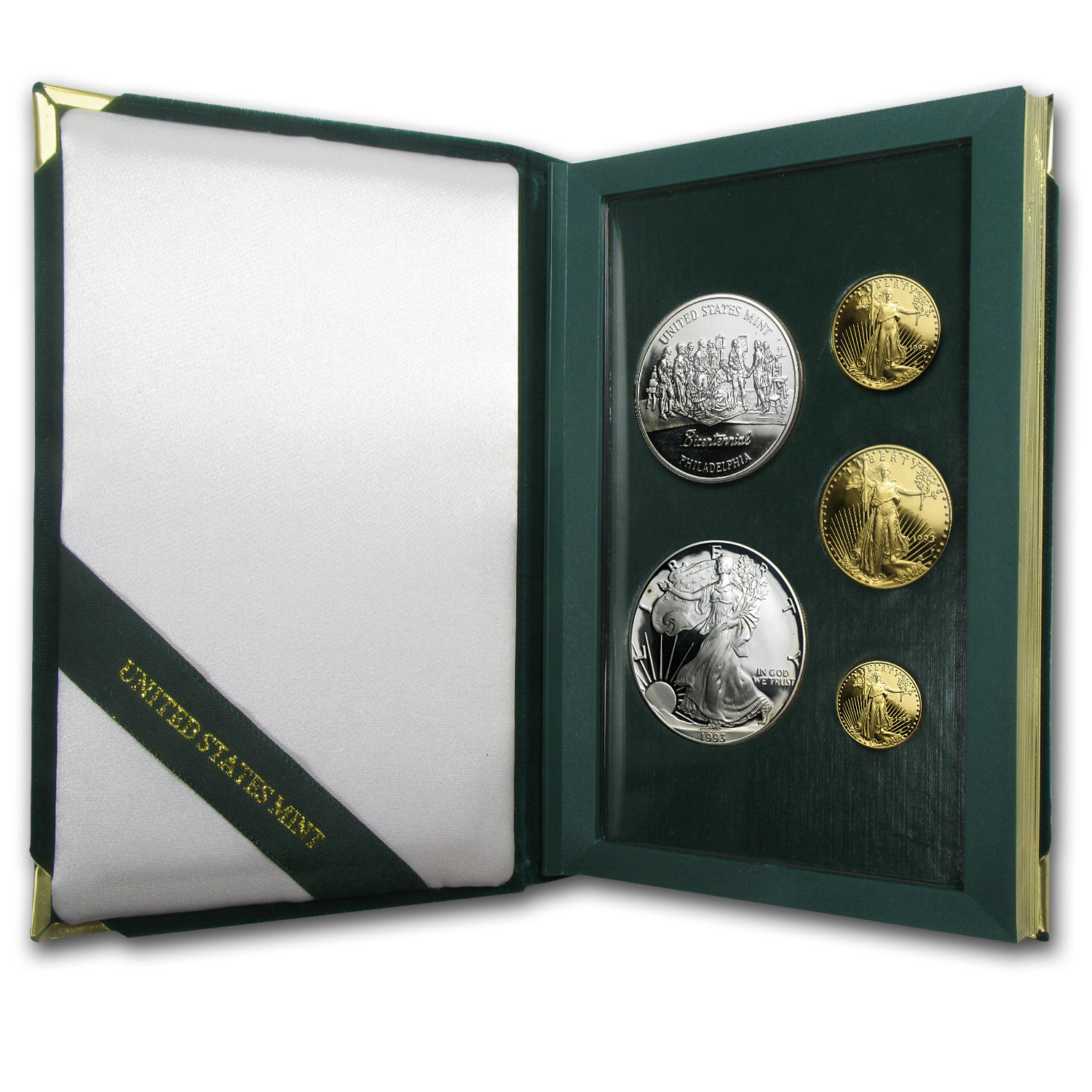 1993 5-Coin Proof Gold & Silver Philadelphia Set (w/Box & COA)