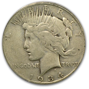 1934-S Peace Dollar VF-25 PCGS