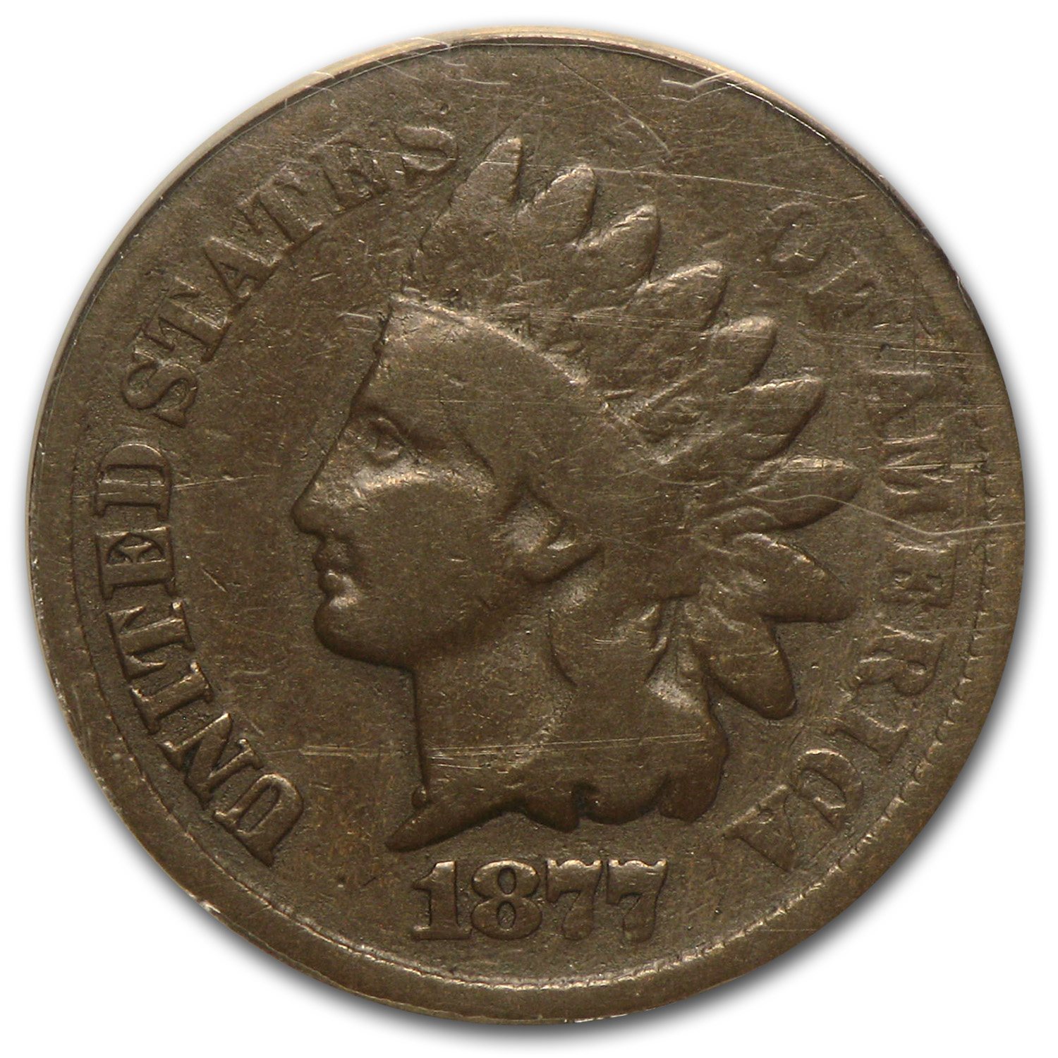 1877 Indian Head Cent Good