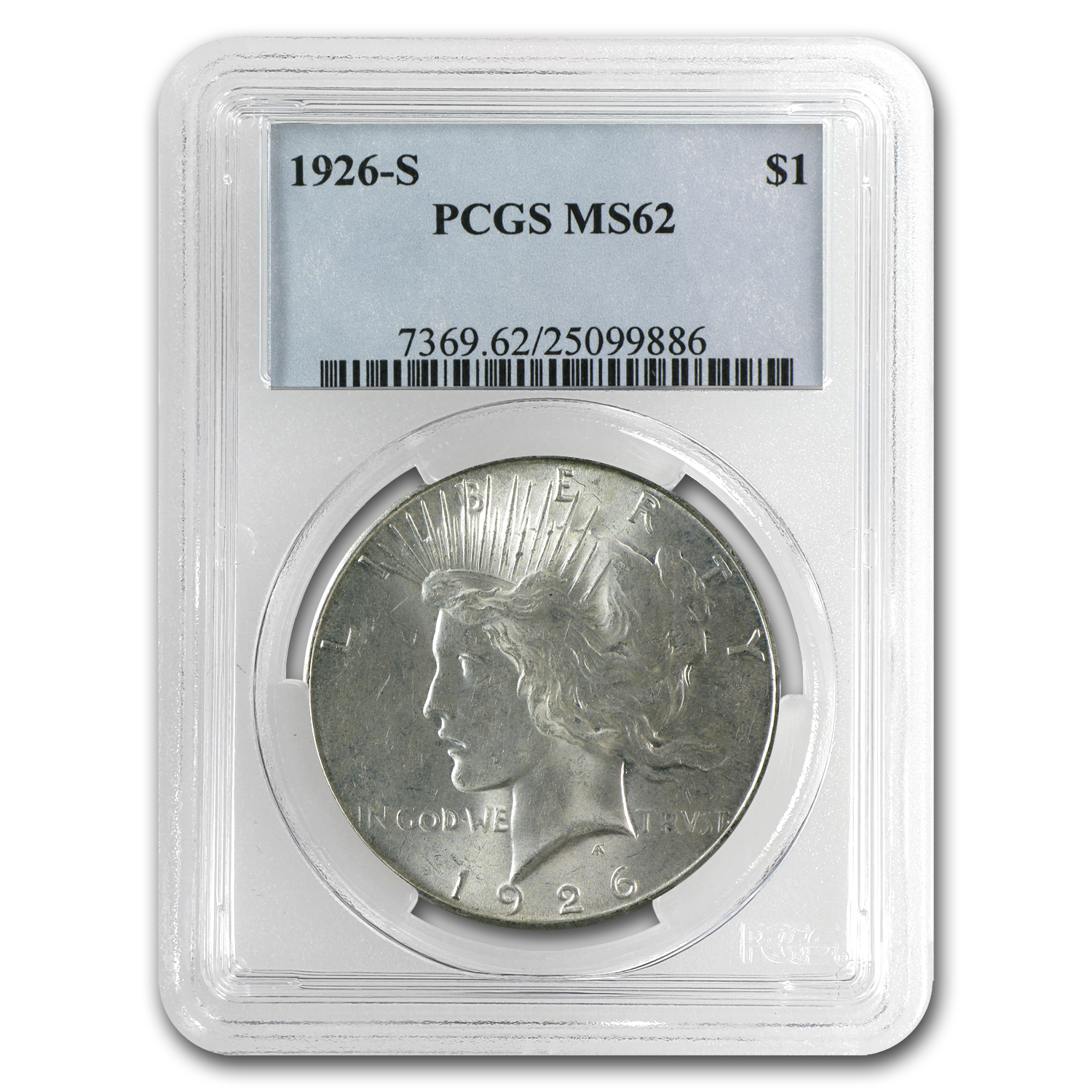 1926-S Peace Dollar MS-62 PCGS