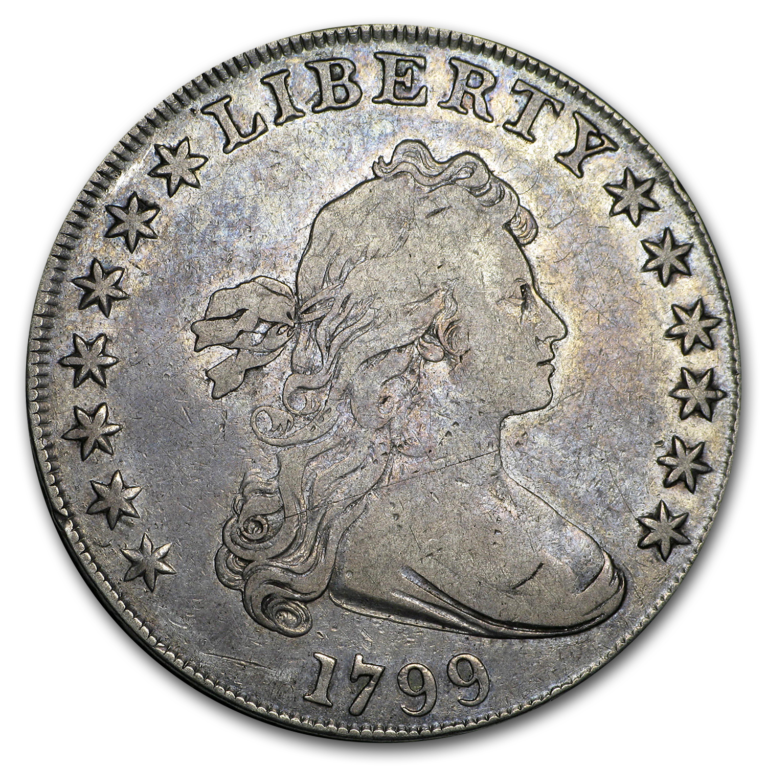 1799 Draped Bust Dollar - Fine