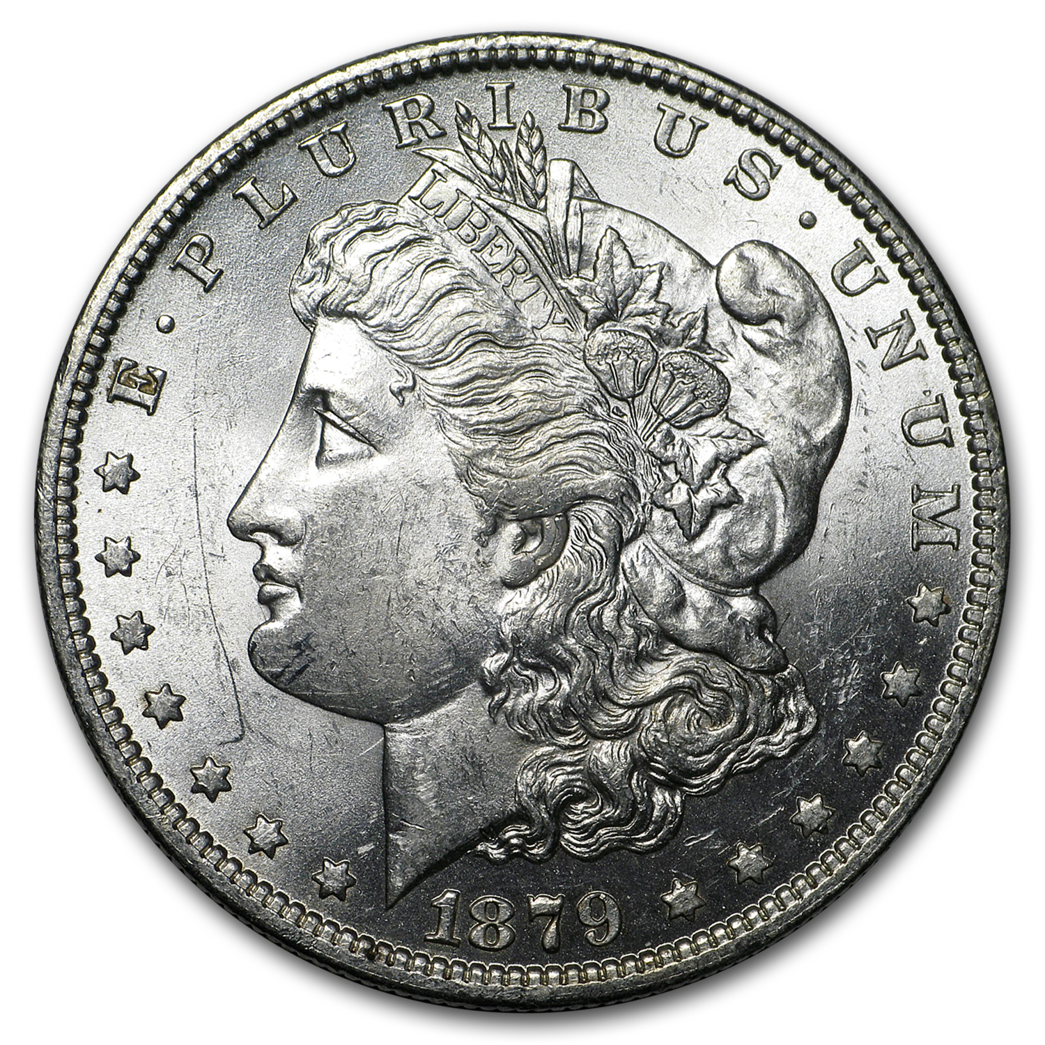 1879-O Morgan Dollar AU-58