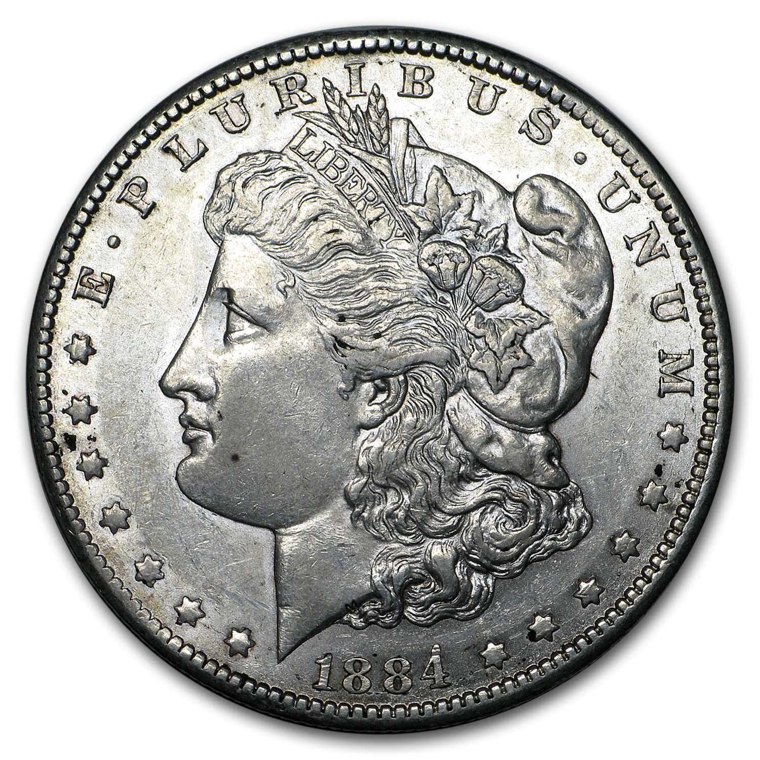 1884-CC Morgan Dollar AU