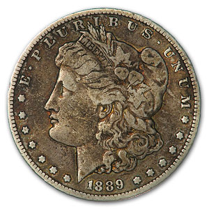 1889-S Morgan Dollar VF