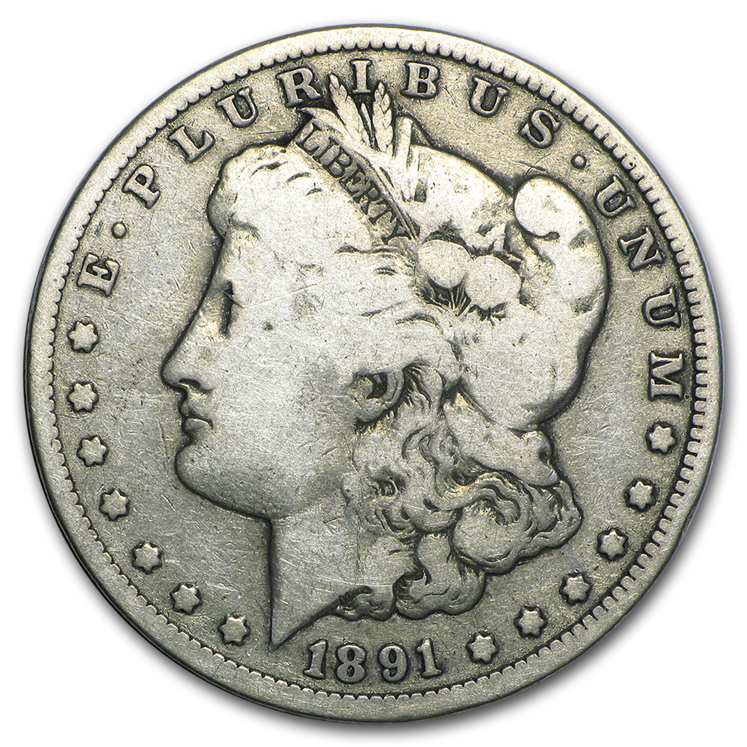 1891-CC Morgan Dollar Good