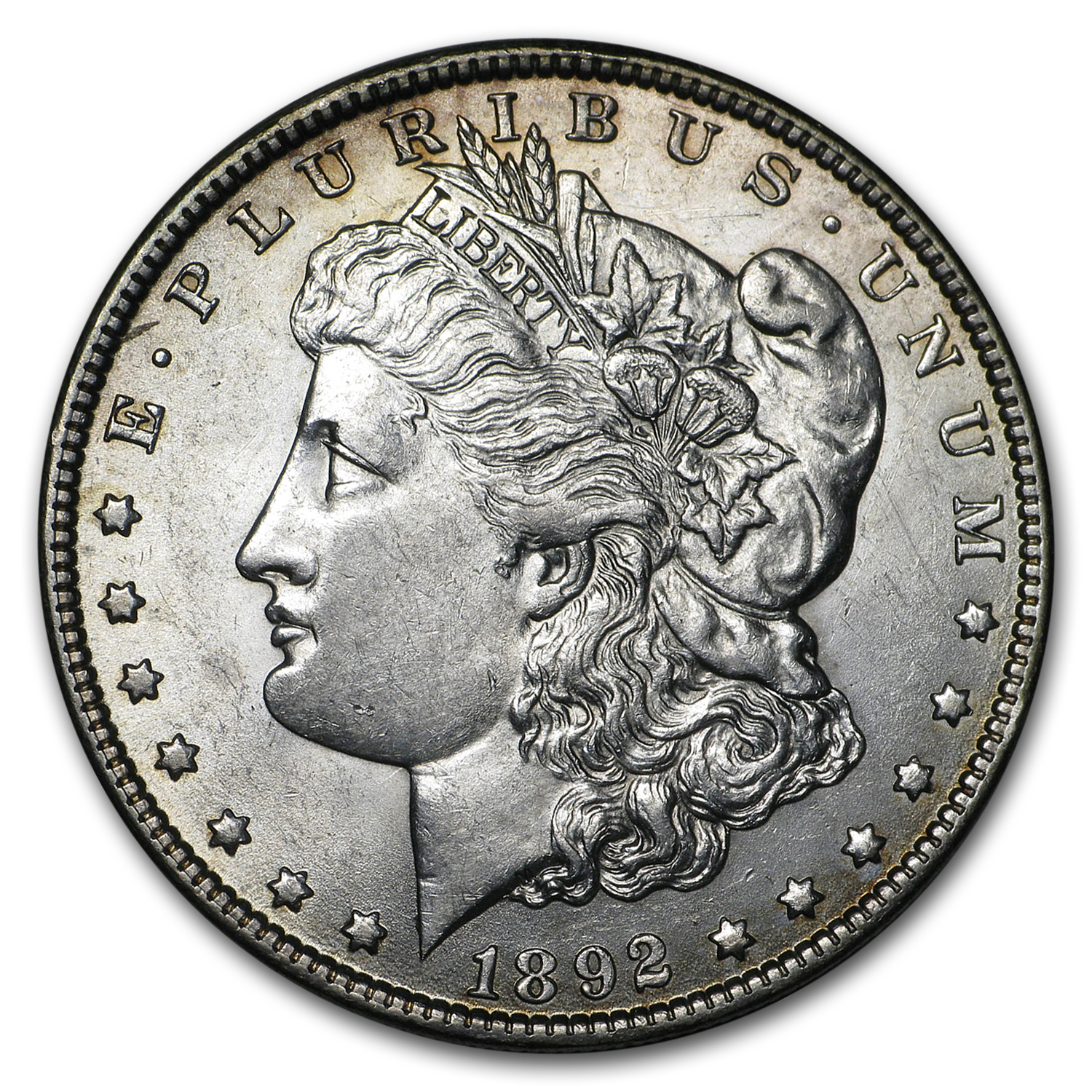 1892-O Morgan Dollar AU-58