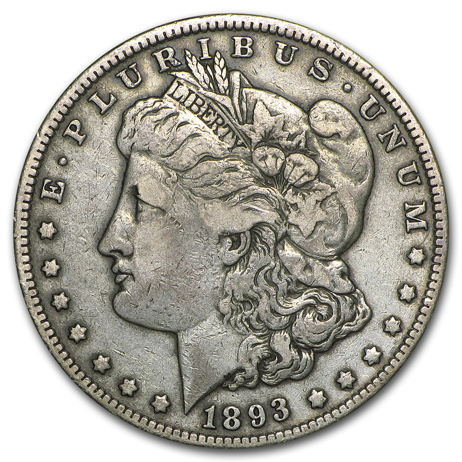 1893 Morgan Dollar Fine