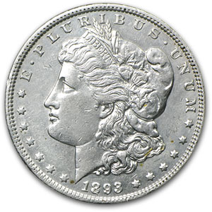 1893 Morgan Dollar - Almost Uncirculated-53