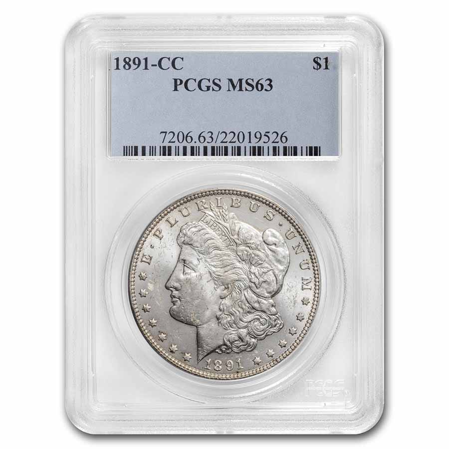 1891-CC Morgan Dollar MS-63 PCGS