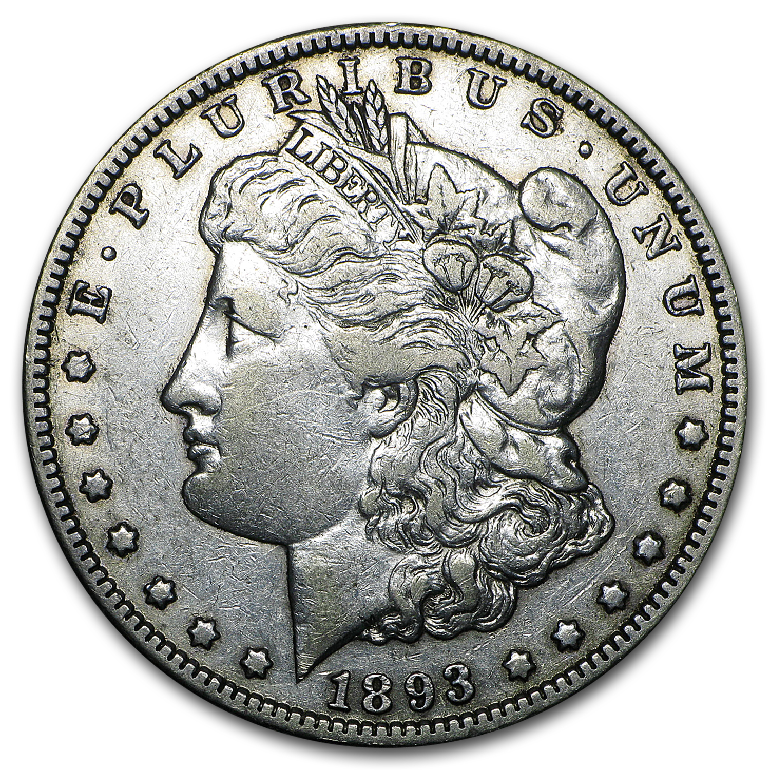 1893-O Morgan Dollar XF