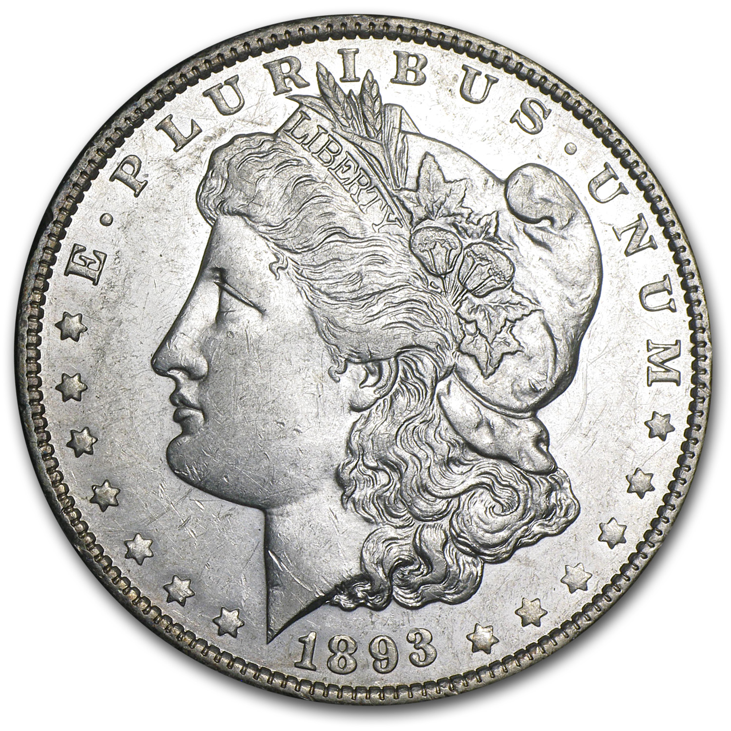 1893-O Morgan Dollar - Almost Uncirculated-50