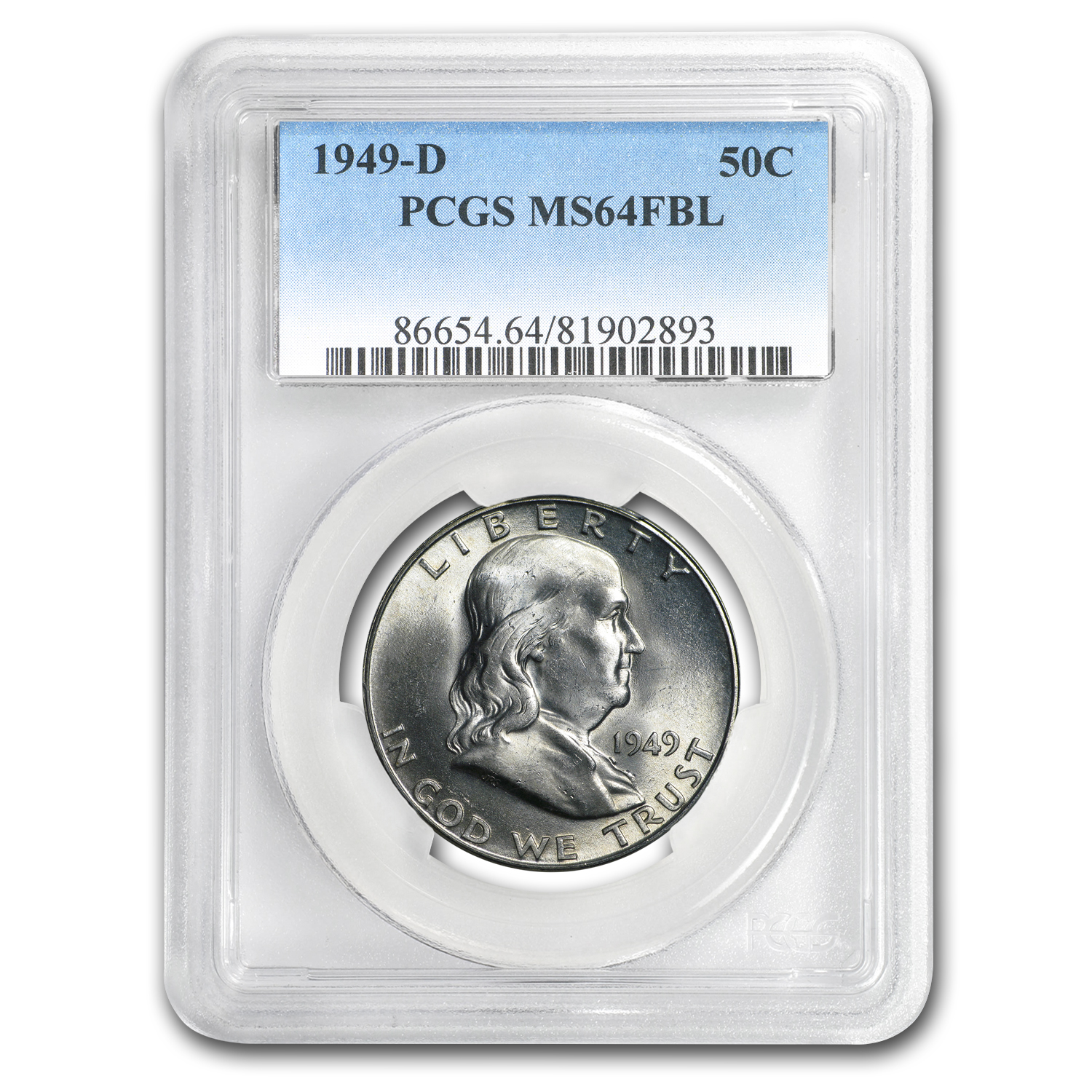 1949-D Franklin Half Dollar MS-64 PCGS (FBL)