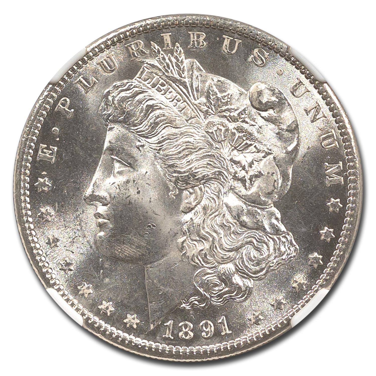 1891-S Morgan Dollar MS-63 NGC