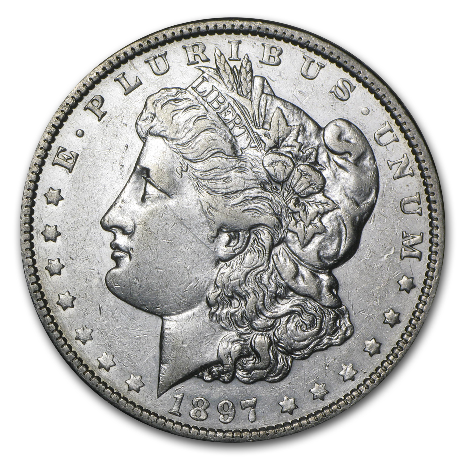 1897-O Morgan Dollar AU