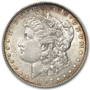 1897-O Morgan Dollar AU-55