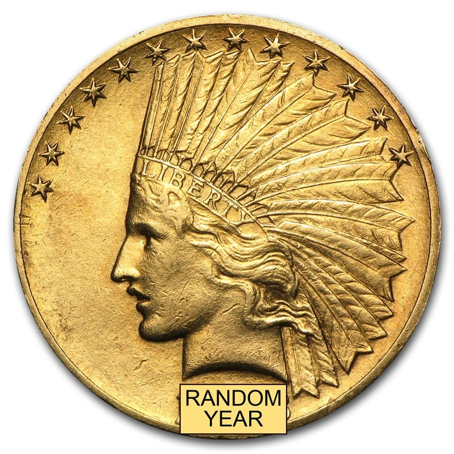 $10 Indian Gold Eagle XF (Random Year)