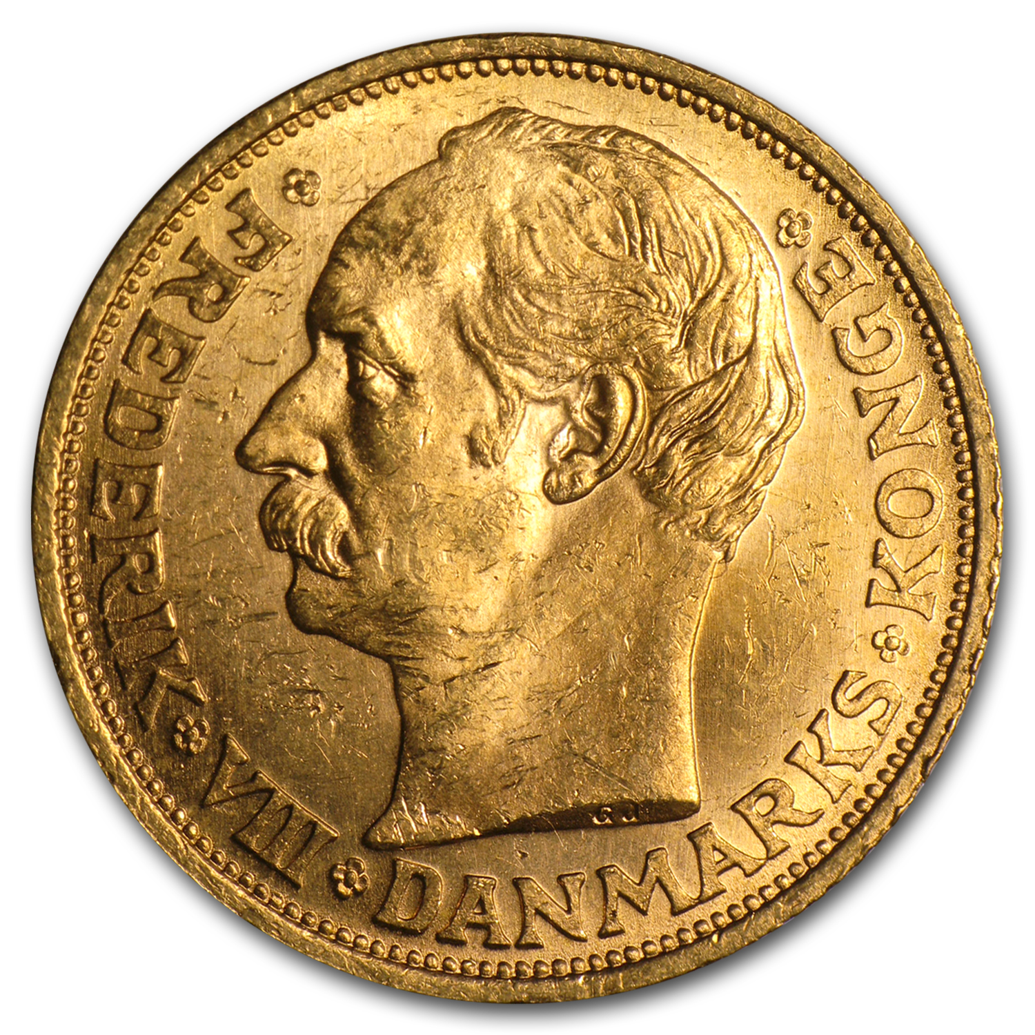 Denmark Gold 20 Kroner (Almost Uncirculated)
