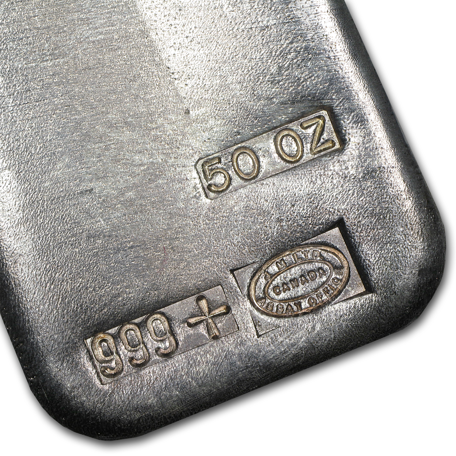 50 oz Silver Bar - Johnson Matthey (Serial #, Canada)