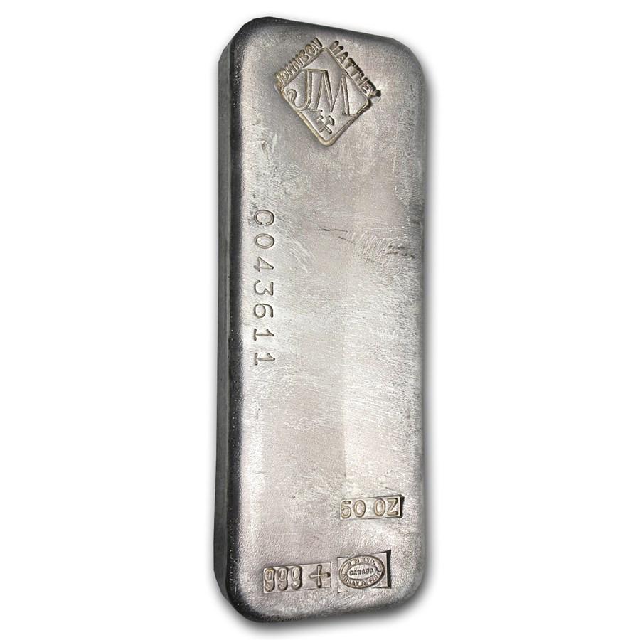 50 Oz Silver Bar Johnson Matthey Serial Canada 50