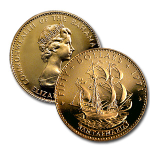 Bahamas 1971 4-Piece Gold Set - (AGW 2.118)