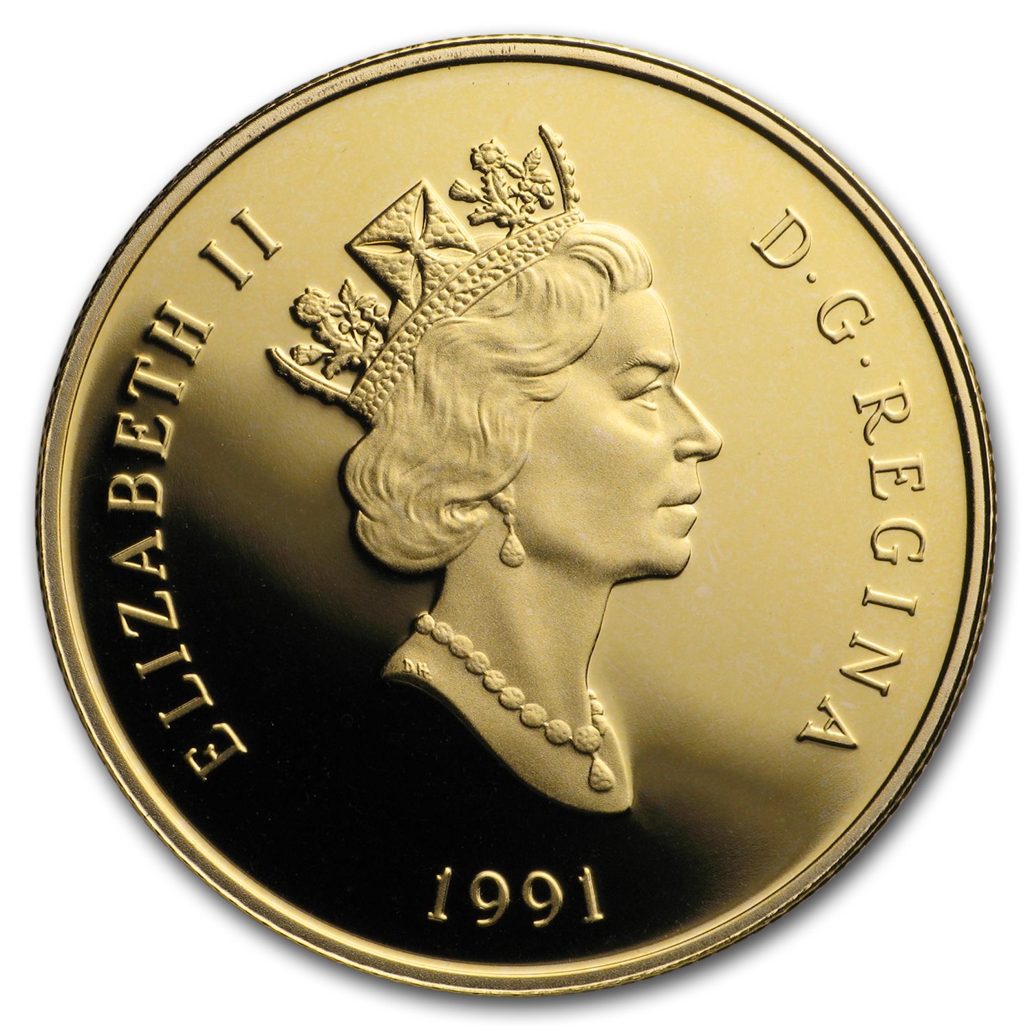1991 1/4 oz Gold Canadian $100 Proof - Empress of India