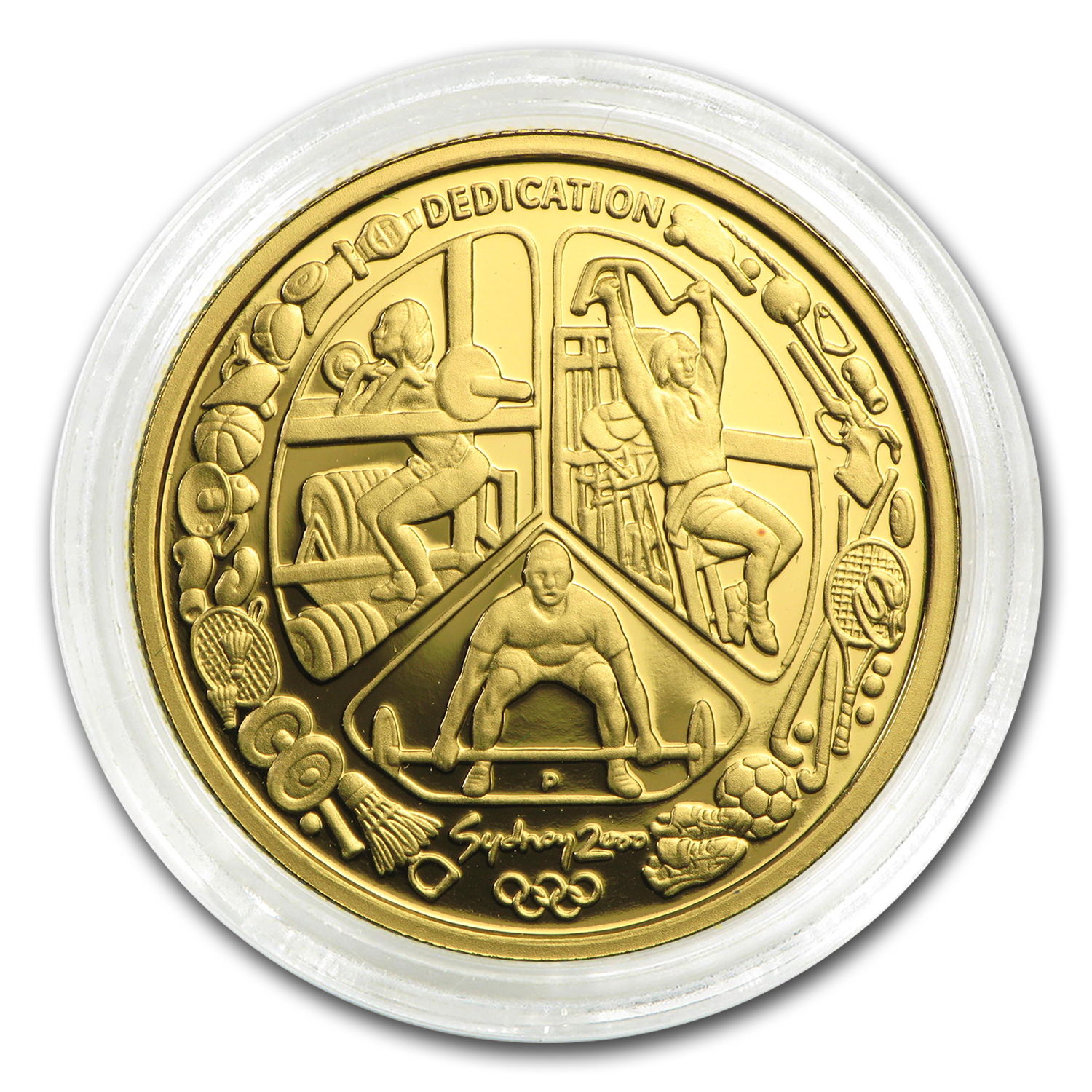 Australia 2000 100 Dollars Gold Proof Olympics - AGW .3215
