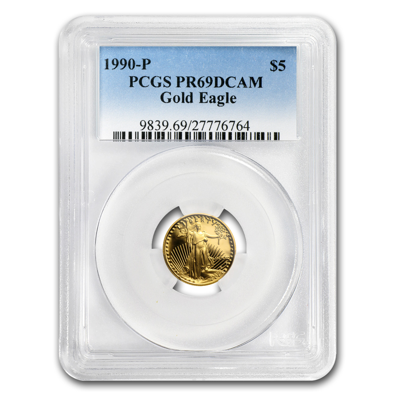 1990-P 1/10 oz Proof Gold American Eagle PR-69 PCGS