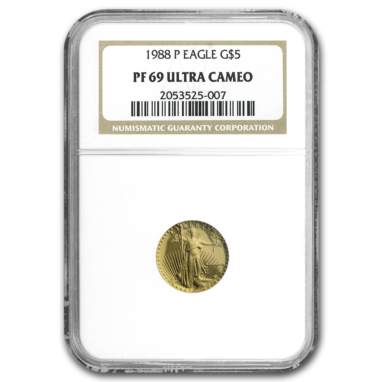 1988-P 1/10 oz Proof Gold American Eagle PF-69 NGC