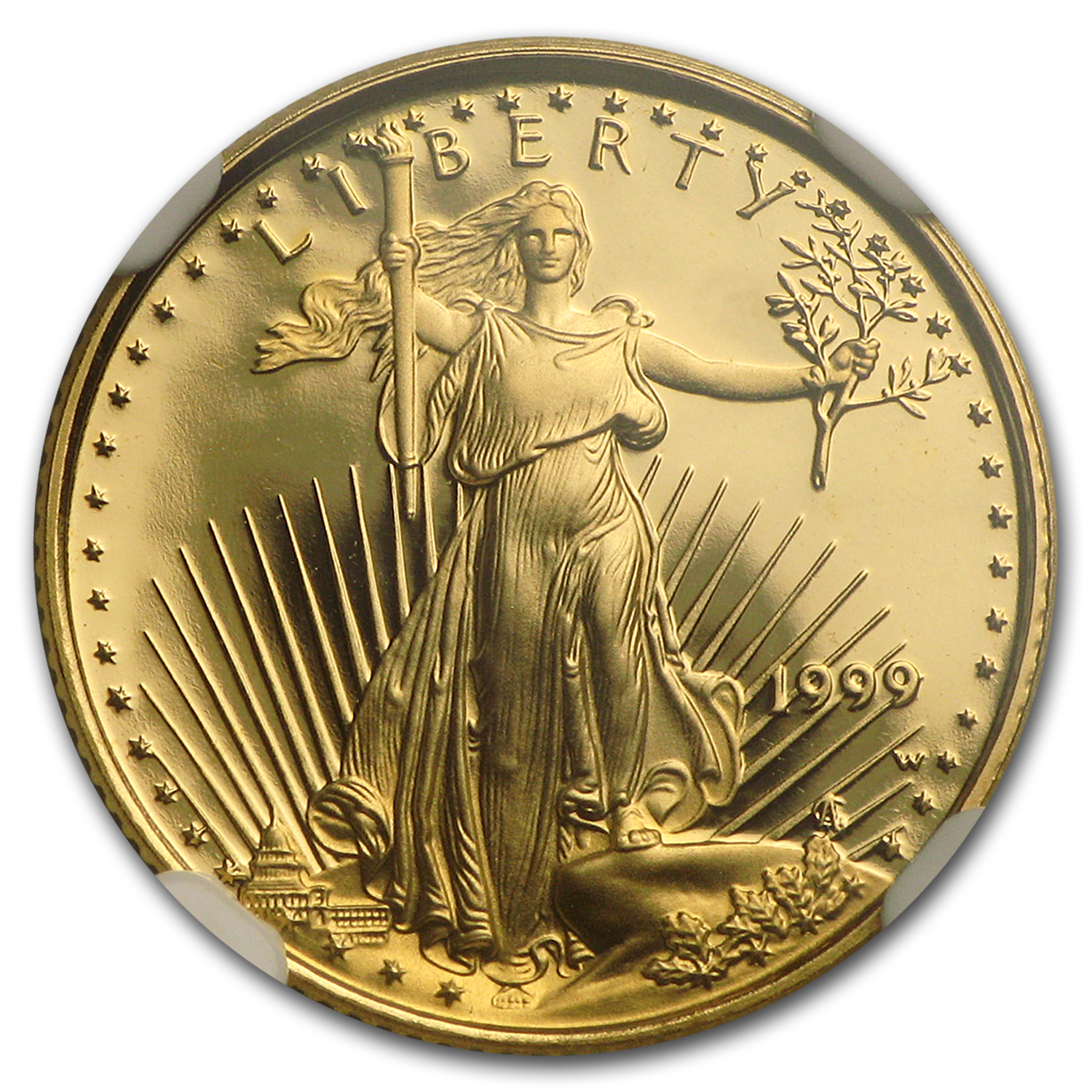 1999-W 1/10 oz Proof Gold American Eagle PF-69 NGC