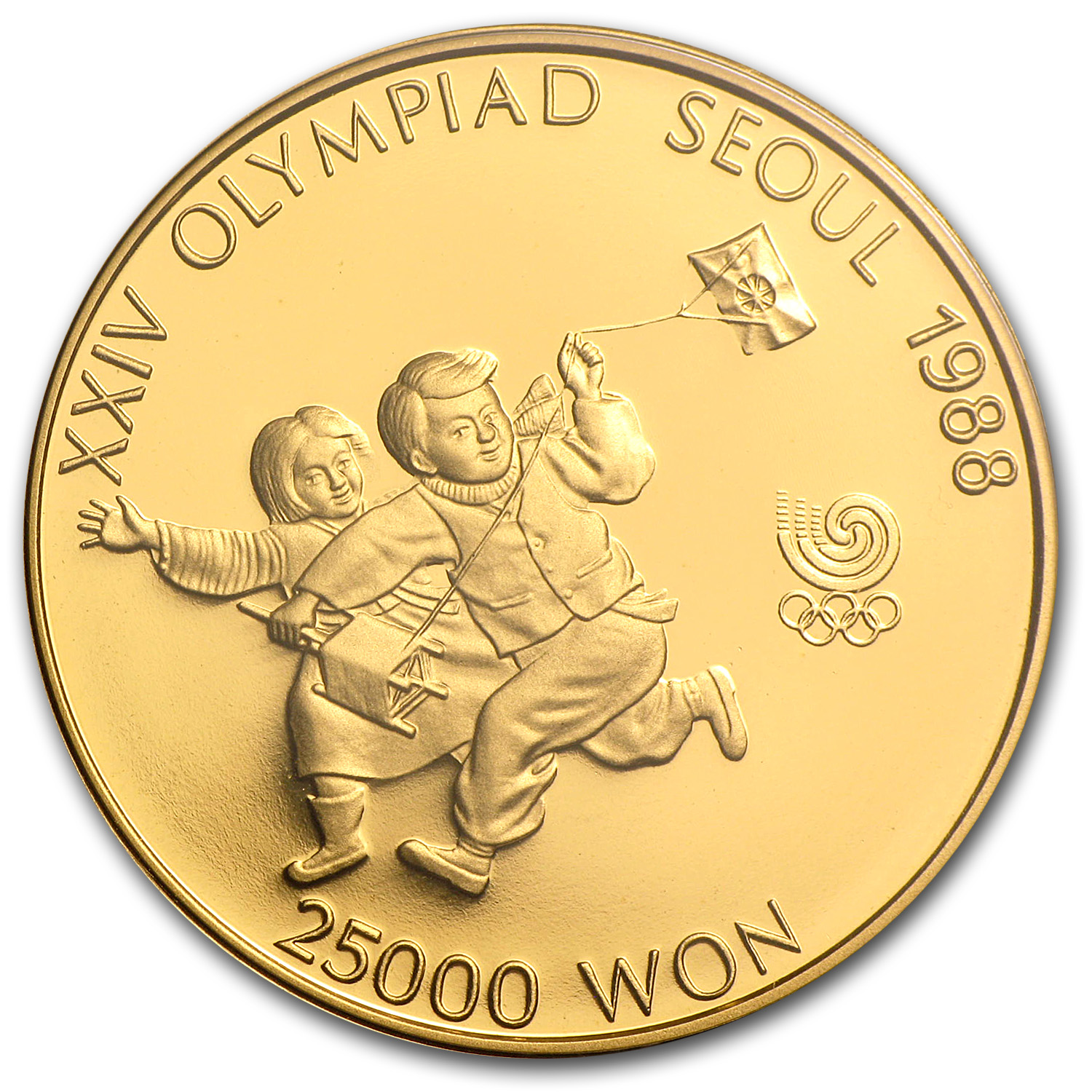 South Korea 1/2 oz Gold 25,000 Won Olympics Proof