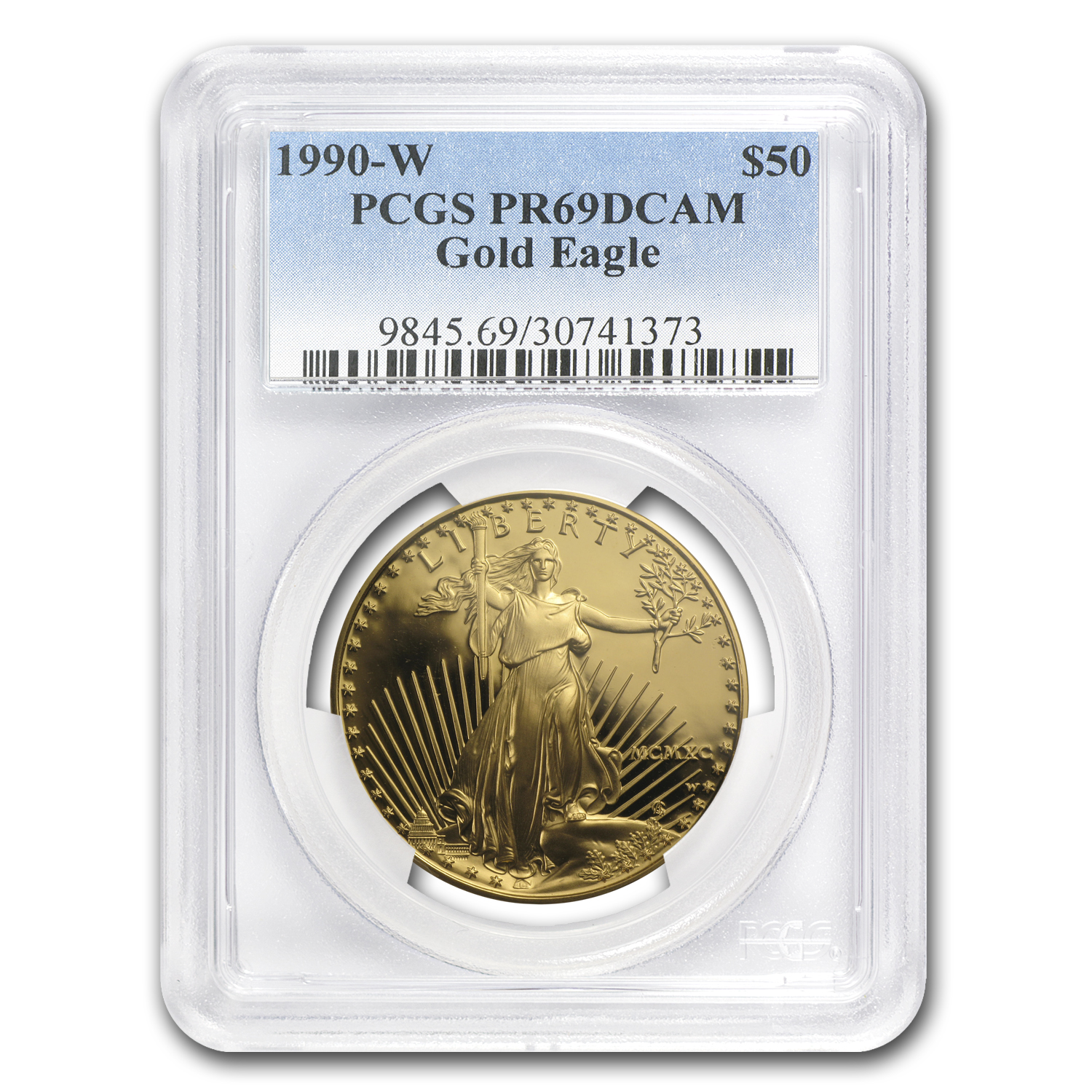 1990-W 1 oz Proof Gold American Eagle PR-69 PCGS