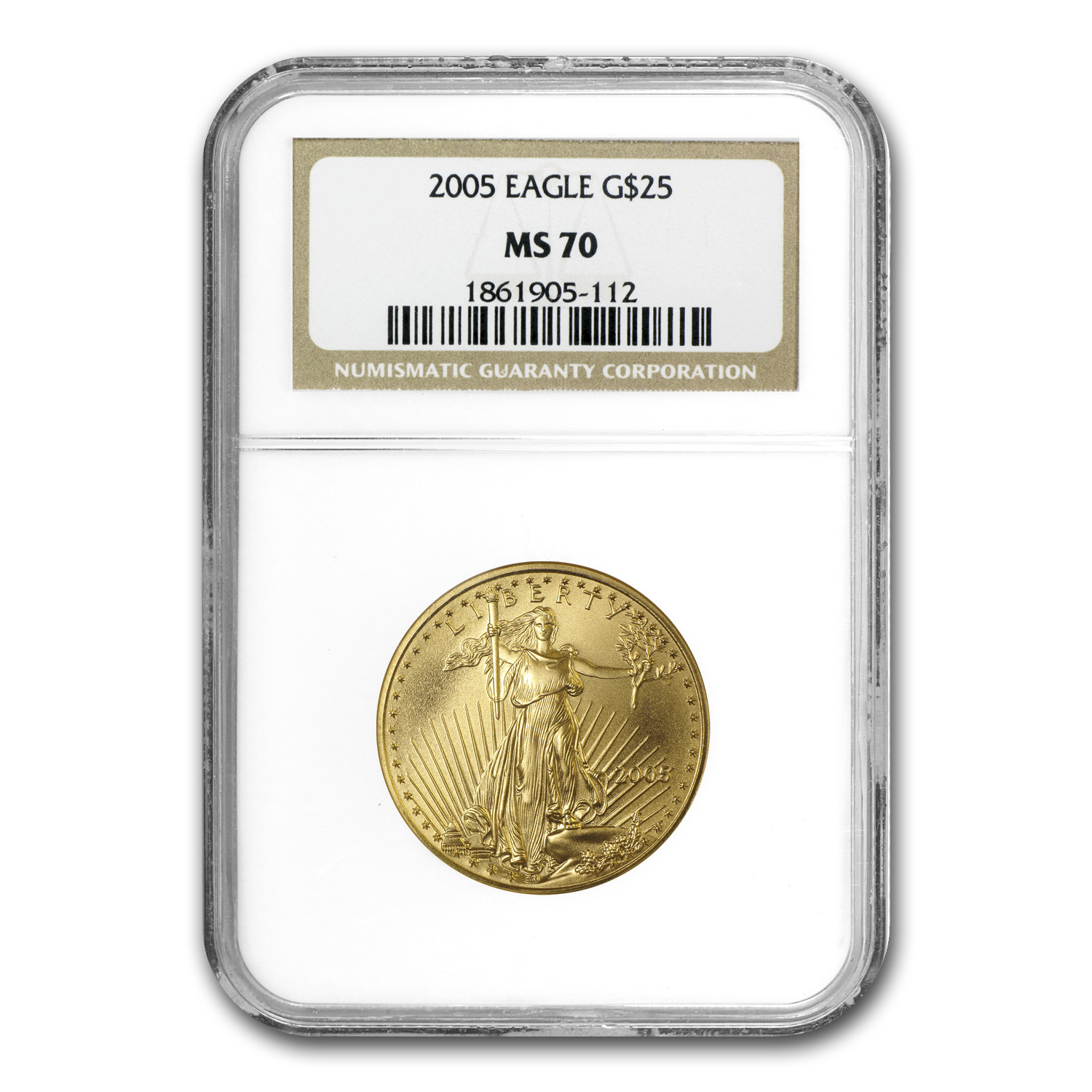 2005 1/2 oz Gold American Eagle MS-70 NGC