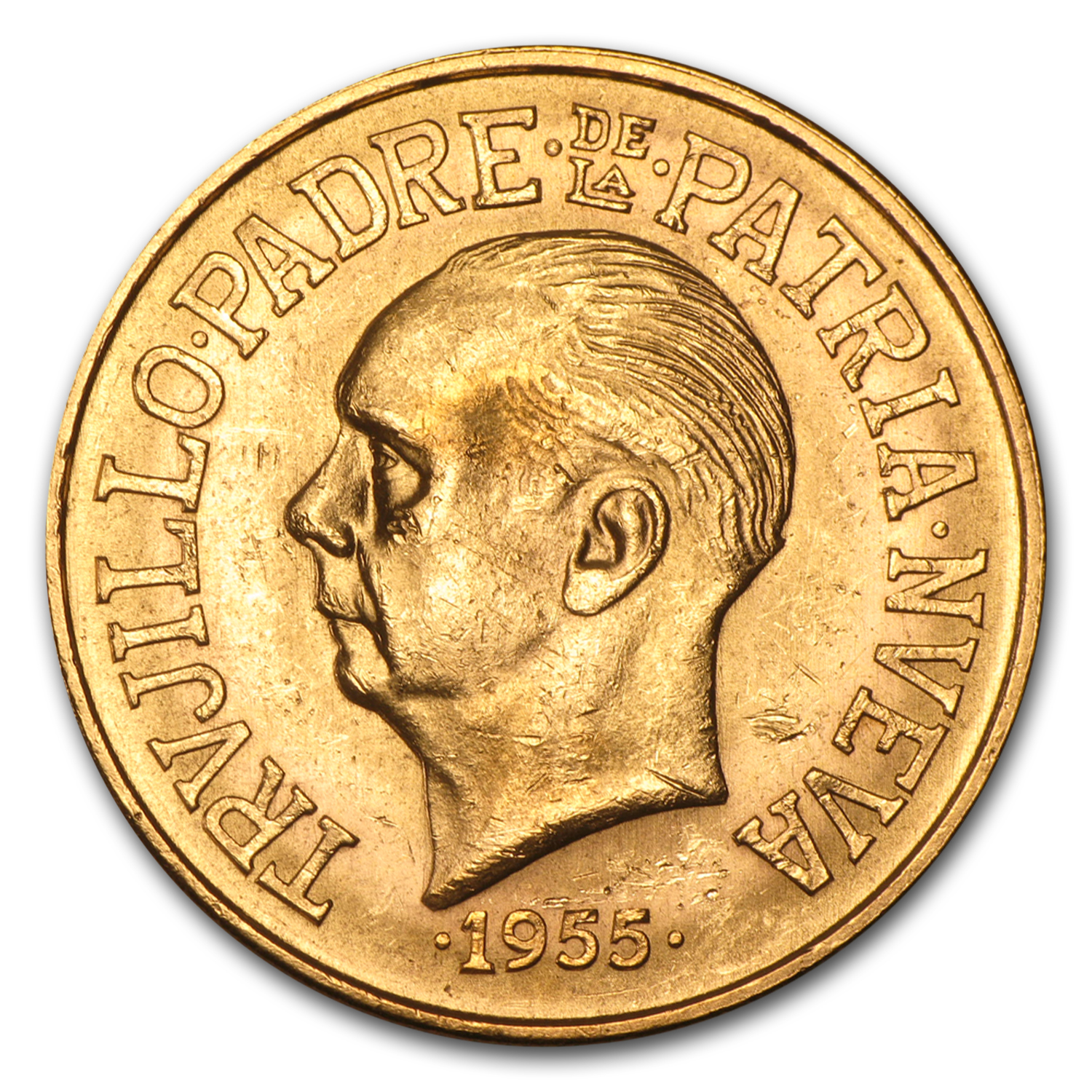 Dominican Republic 1955 30 Pesos Gold Coin (AU) .8572 AGW