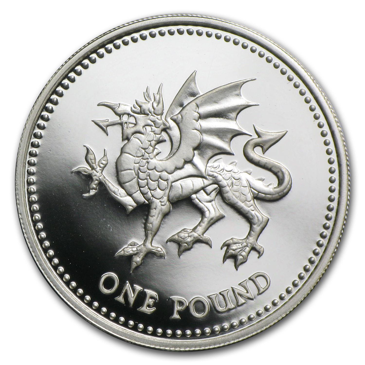 United Kingdom - Silver Proof Piedfort - One Pound Coin
