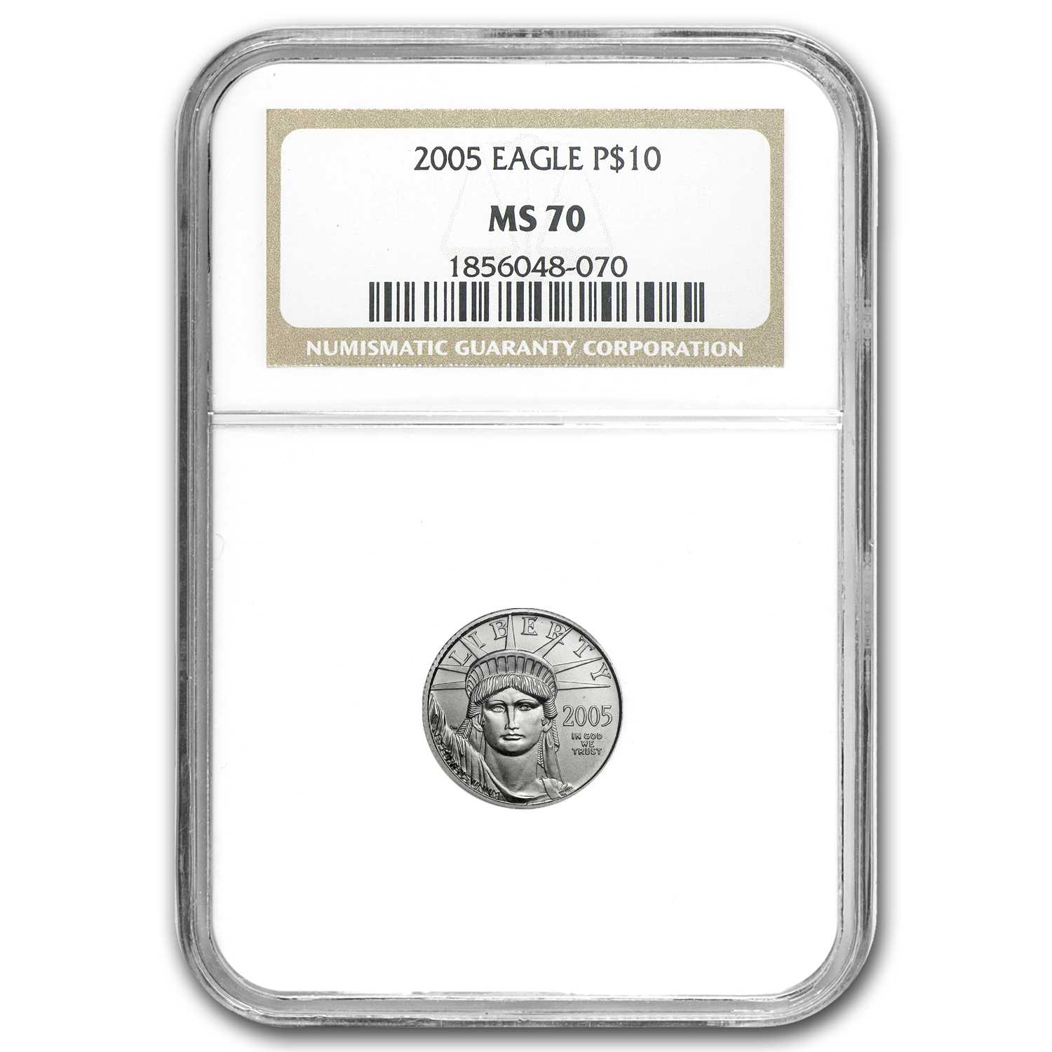 2005 1/10 oz Platinum American Eagle MS-70 NGC