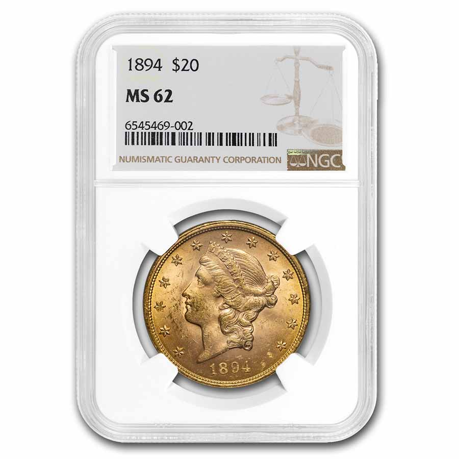 1894 $20 Liberty Gold Double Eagle MS-62 NGC