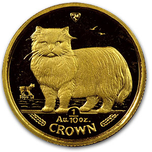 Isle of Man 1/10 oz Gold Cat Proof (Random Year)