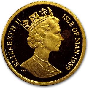 Isle of Man 1/10 oz Gold (Cat coins)