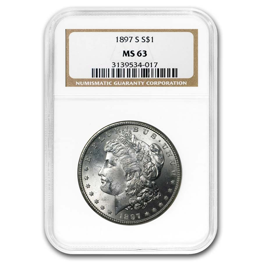 1897-S Morgan Dollar MS-63 NGC