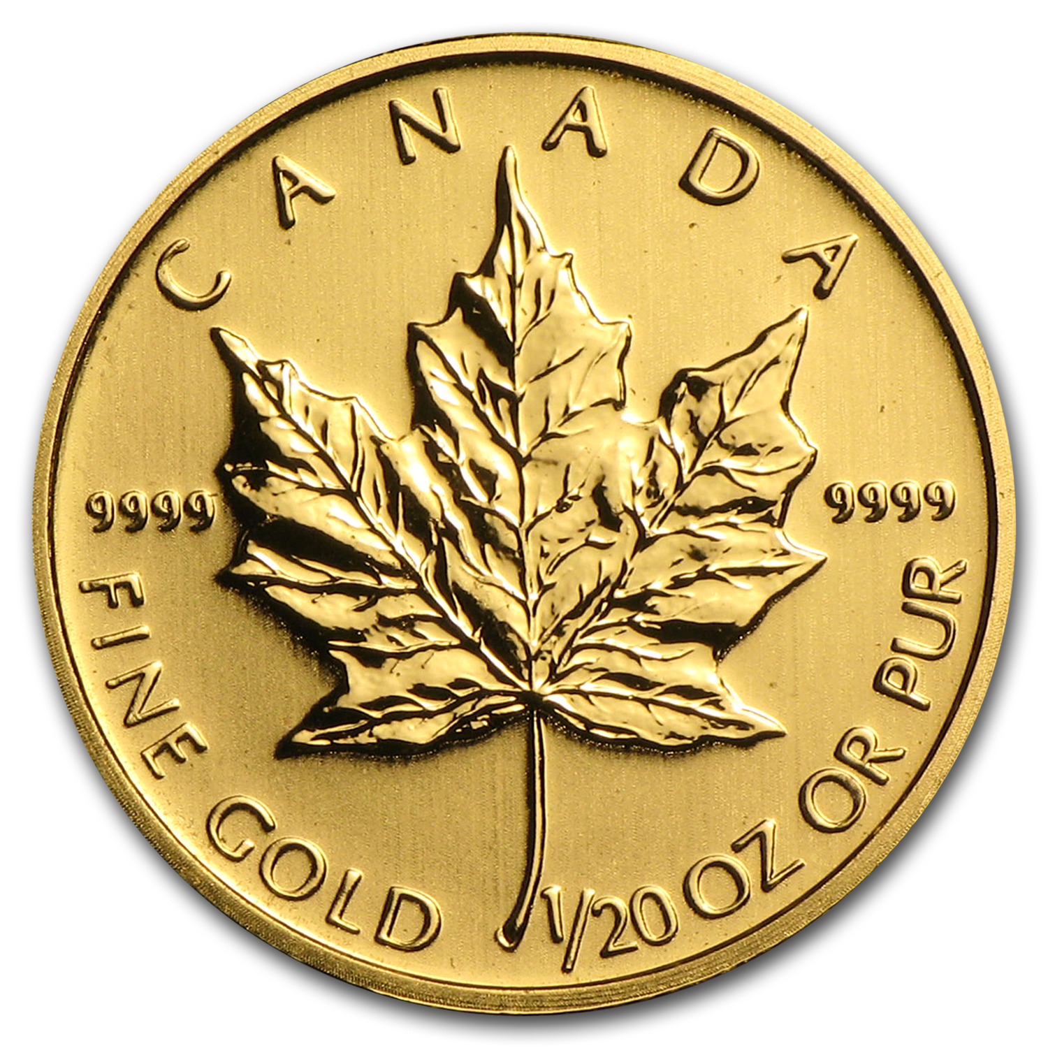 1/20 oz Gold Canadian Maple Leaf - Random Year