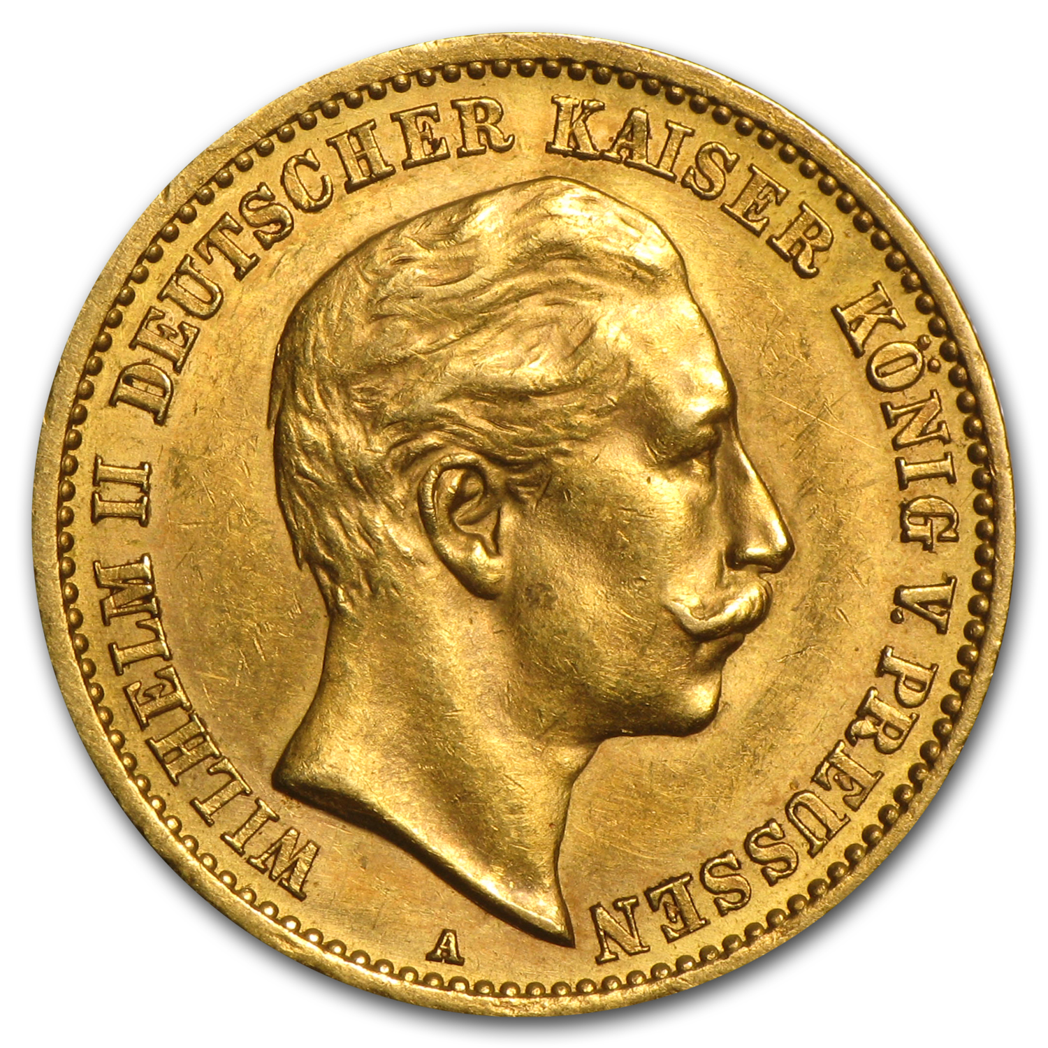 Germany Gold 10 Marks (Average Circulated)