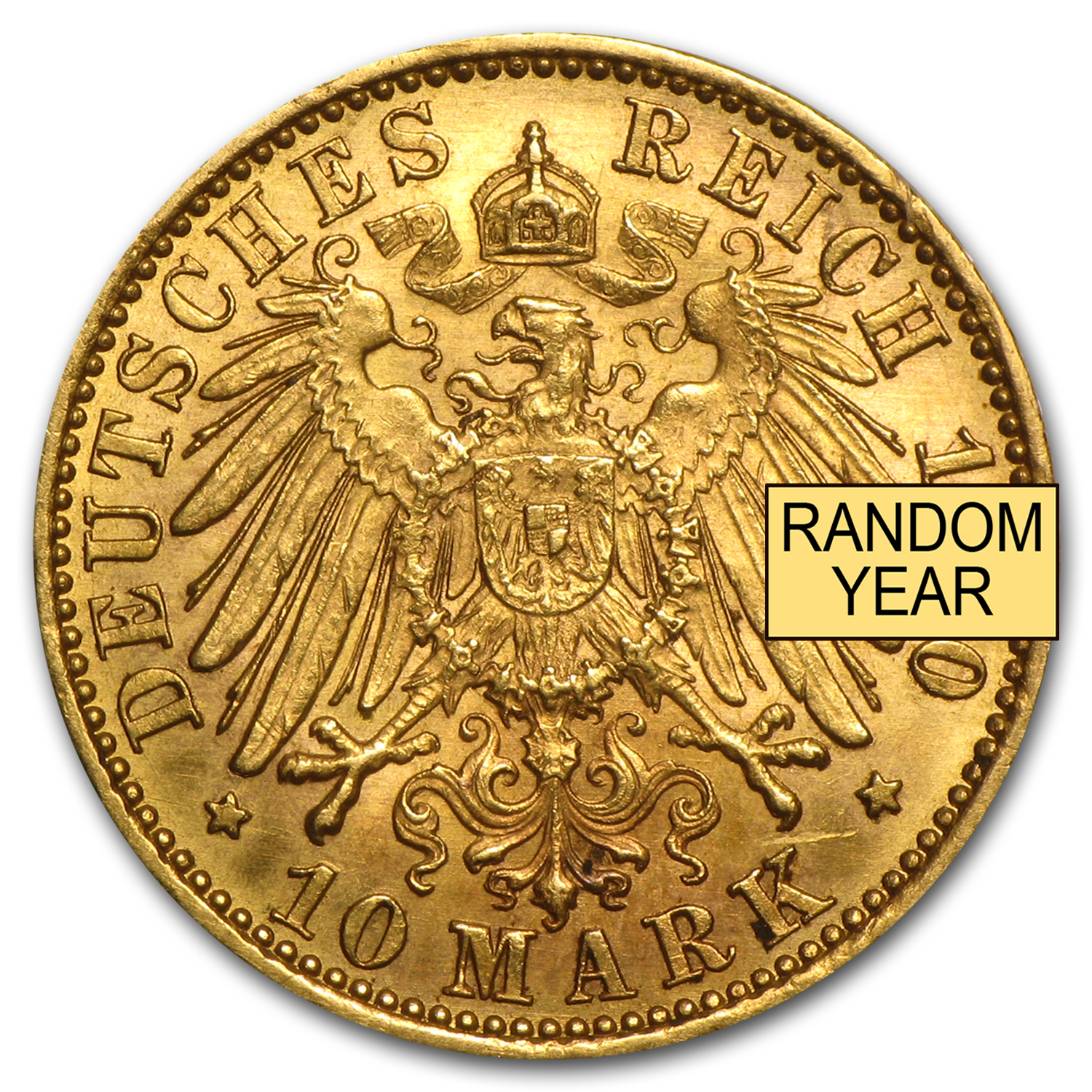 1875-1913 Germany Gold 10 Marks XF or Better